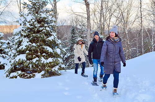 Mont Tremblant snowshoeing tour