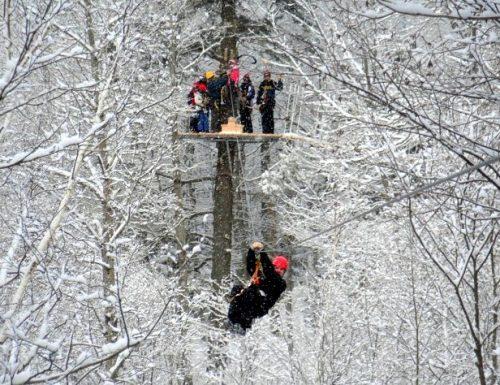 zip line in Mont Tremblant